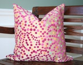 DECORATIVE PILLOW COVER- 20 x 20- Modern cut velvet - hot pink