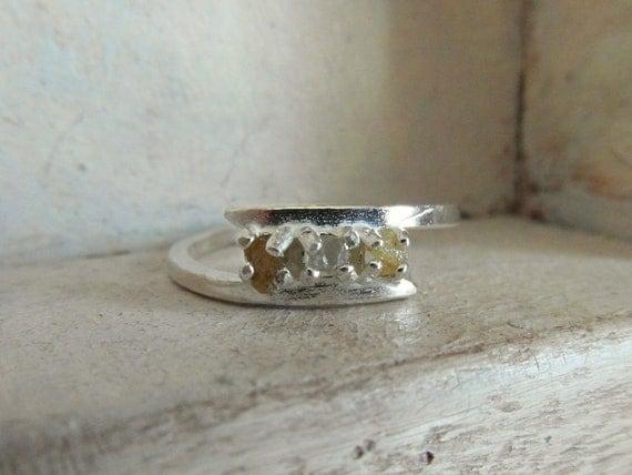 Raw Rough Diamond- wedding band ring