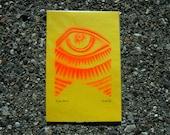 Eye, Stencil Print, 4X6