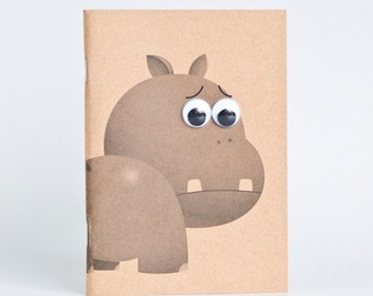 Kraft Notebook Pocket Booklet A6 - Hippopotamus