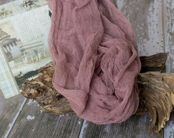 Cheesecloth, Hazel Brown Cheesecloth, Photography Prop, Baby Wrap, Newborn WRAP, Newborn Photo Prop, Dyed Cheesecloth