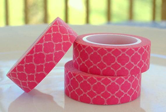 Hot Pink Quatrefoil Washi Tape