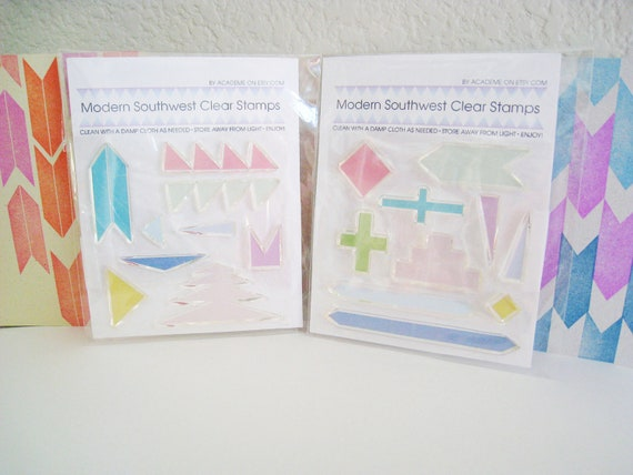 Southwestern Native American Clear Rubber Stamp Set 1 AND 2