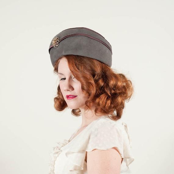 vintage 1960s hat / pillbox / Rozanne