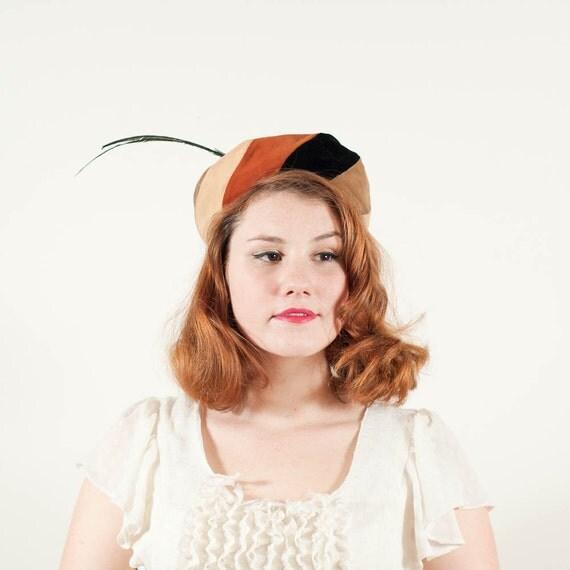 sale / vintage 1950s hat / pillbox / Marilyn