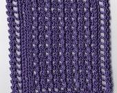 Crocheted Dollhouse Blanket Purple