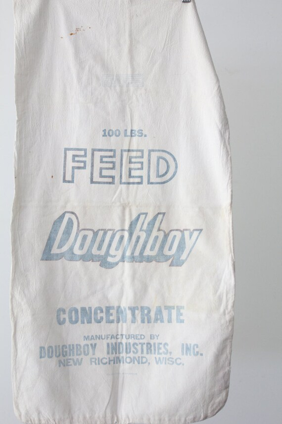 Vintage Doughboy Feed Sack // 100 LBS