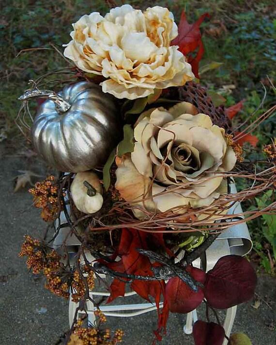 Elegant Fall Table Arrangements: Elegant Fall Centerpiece Or Thanksgiving-winter Wedding Decor