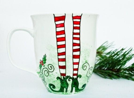 Christmas Legs Mug - Miss Elf