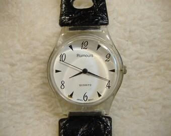 Vintage 1980s Rumours Lucite Quartz Watch