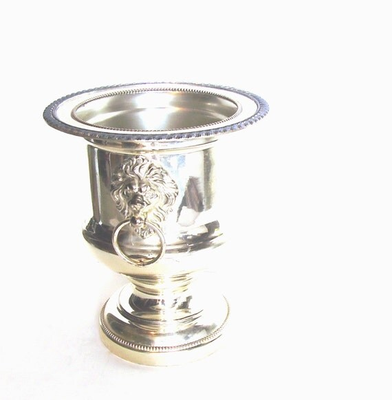 Vintage Silver Champagne Ice Buckets Forbes Lions Head