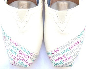 The Audrey- Wedding Custom Painted TOMS