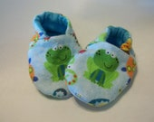 Newborn Baby Shoes Booties Boys Frogs