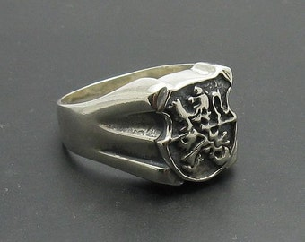 R000770 STERLING SILVER Ring Solid 925 Lion