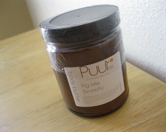 Fig Me Sweetly Fig Body Butter with Horsetail Butter and Avocado Oil 4oz Glass Jar