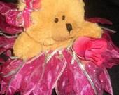 Hot Pink Tutu Bear with polkadots