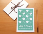 Wedding Invitation With Illustrated Heart Pattern