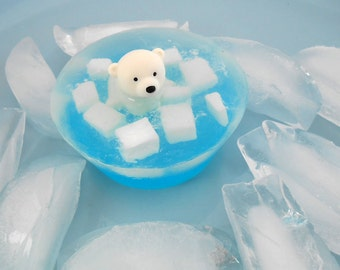 Polar Bear On Ice Soap