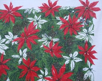 Poinsettia Christmas Tablecloth