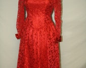 Red Vintage Dress Dance Allure large Just in time for Christmas