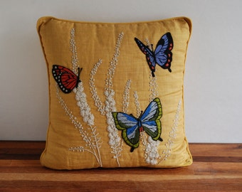Butterfly Throw Pillow - Mid Century - Home Decor