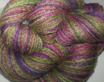 Handspun BFL/Silk yarn - Rose Geranium - 486m/531y