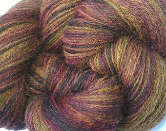 Handspun BFL Yarn - Forever Autumn - 552m/603y