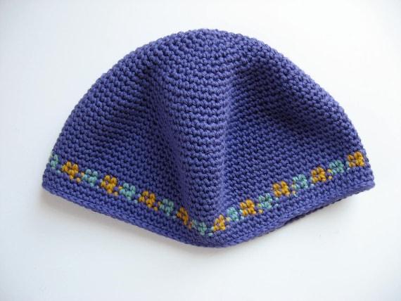 cotton skull cap violet hat kufi