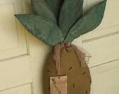 Primitive Grungy Pineapple - Fabric - Door Greeter - Decoration