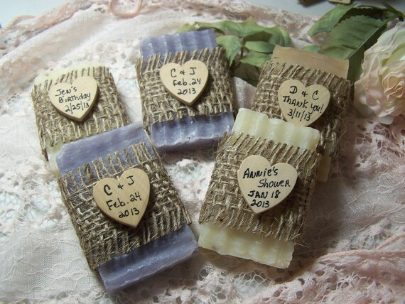 Bridal Shower Favors Soaps Mini Soaps Organic Handmade