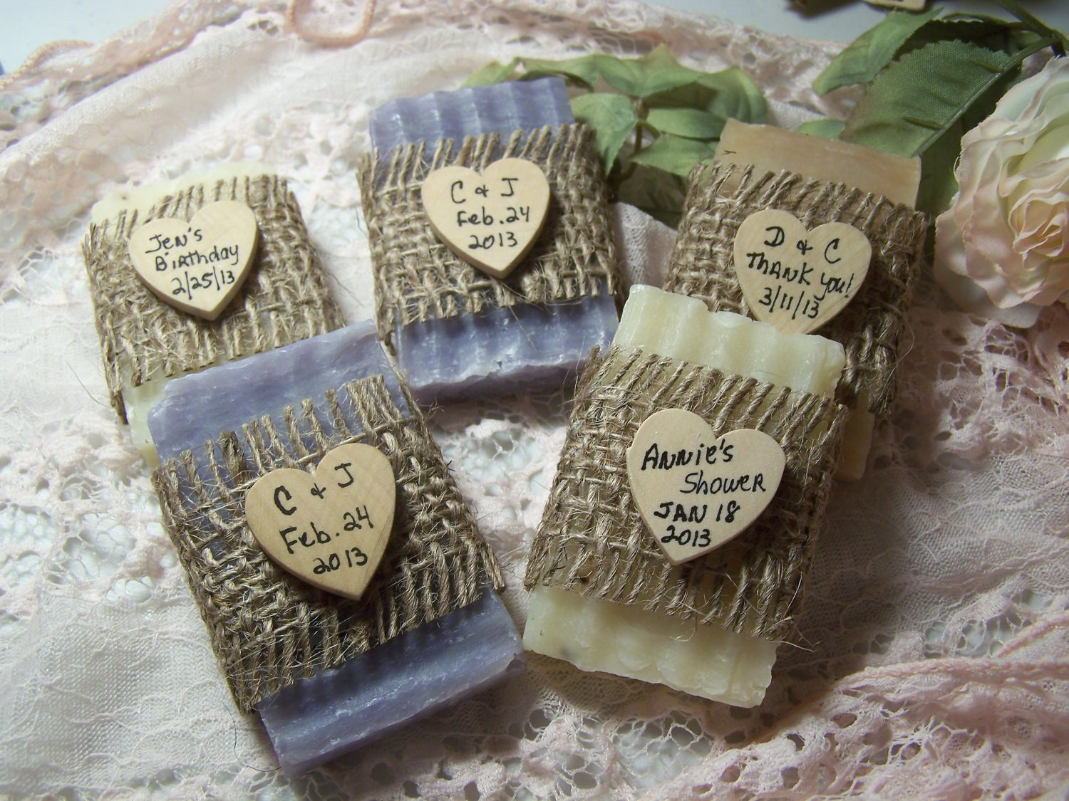 Bridal Shower Favors Soaps Mini Soaps Organic Handmade