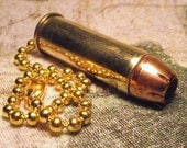 44 Magnum bullet pull chain pullchain upcycled cool gift punk biker metal