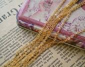 Sale till DEC 30-3.3 feet 24k gold plating dainty brass chain-jewelry handmade must-have-F606