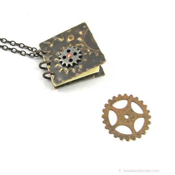 Steampunk Gears Necklace (Mini Notebook)