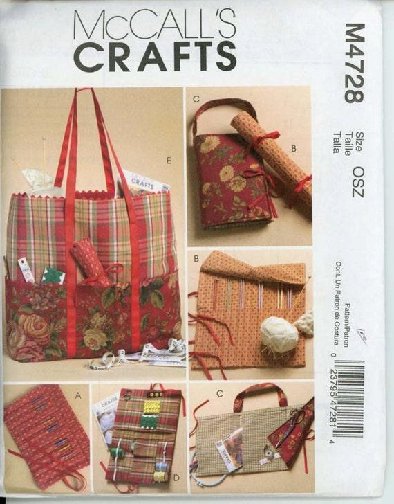 McCalls M4728 Sewing Knitting & Crochet Organizer Pattern
