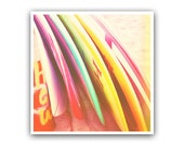 Polaroid Surf Photo Colorful Surboards Beach -- 5x5