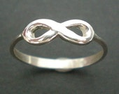 Dainty Silver Infinity Ring - Cute, Kawaii Knuckle Ring - On Sale for Black Friday & Cyber Monday - May Gift Guide Trend