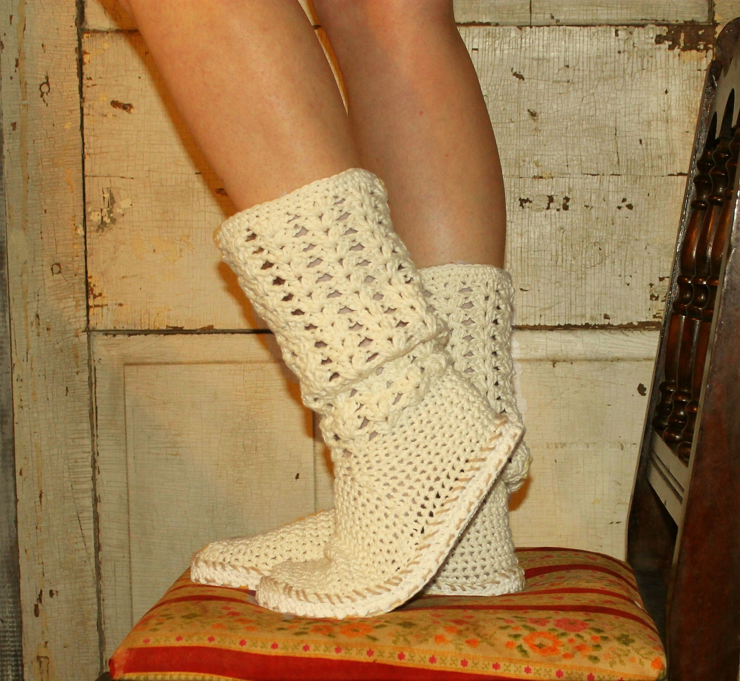 Crochet Free Patterns Boots : Crochet Boots Pattern PdfBoho StyleBOOTS FOR the