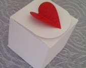 Ready assembled Heart Favour Boxes - Sets of 10