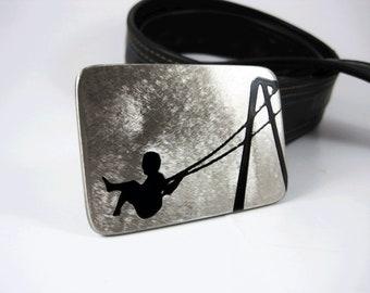 Playground Bliss Belt Buckle - Stainless Steel - Handmade