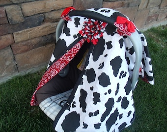Carseat Canopy REVERSABLE Cowgirl Bandana