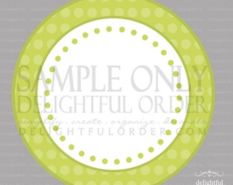 Editable and Printable - Green Polka Dot Label/Tags - (2) PDF Files - Instant Digital Download