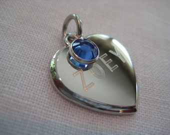 Pet Tag- Fancy Beveled Heart with Crystal