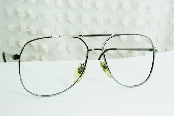 Mens Wire Frame Glasses : 80s Glasses 1980s Aviator Eyeglasses Mens Silver by ...