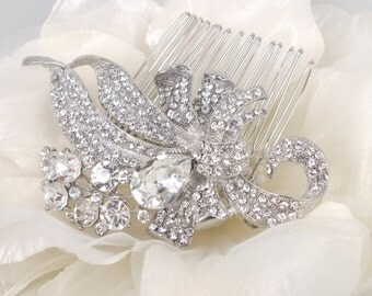 Shimmer - Vintage Style Rhinestone hair comb