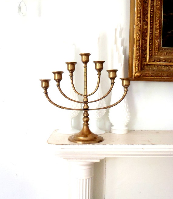 Candle Holder Candelabra Ornate Hollywood Regency Metal Candle Holder