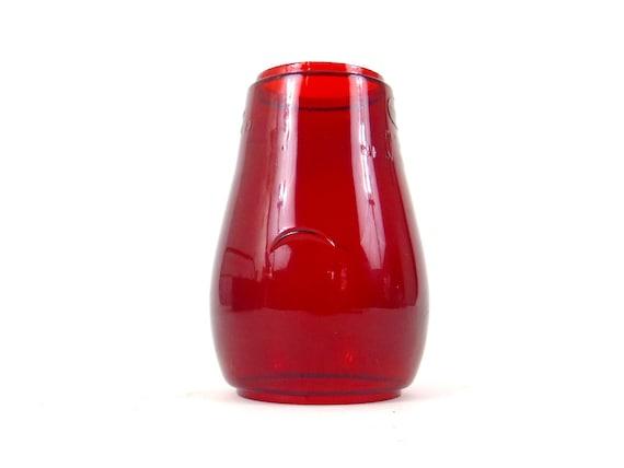 Antique Red Glass Oil Lamp Globe