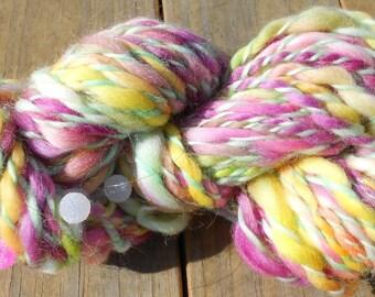 Handspun Yarn, Art Yarn, Sweet Dreams, 4 wpi, Bulky Yarn,  72 yards