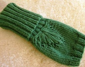 Knit fingerless gloves,SALE, knit wrist warmers,knit hand warmers,knit hand warmers,gauntlets,green gloves, autumn accessories