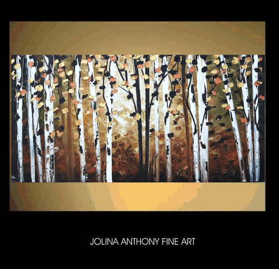 oil painting original abstract painting textured landscape painting fine art from jolina anthony express and free shipping
